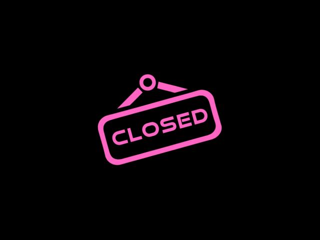 Jesteśmy zamknięci do 17.01