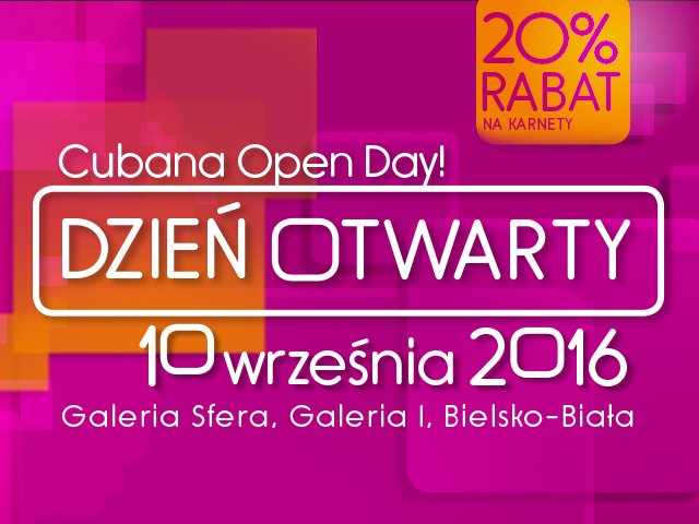 Cubana Open Day 2016